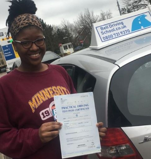 Chass passing her test