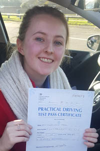 chole passing her test
