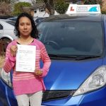 beena passing her test at Hatfield