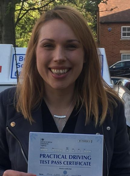 claire passing her test in bedford