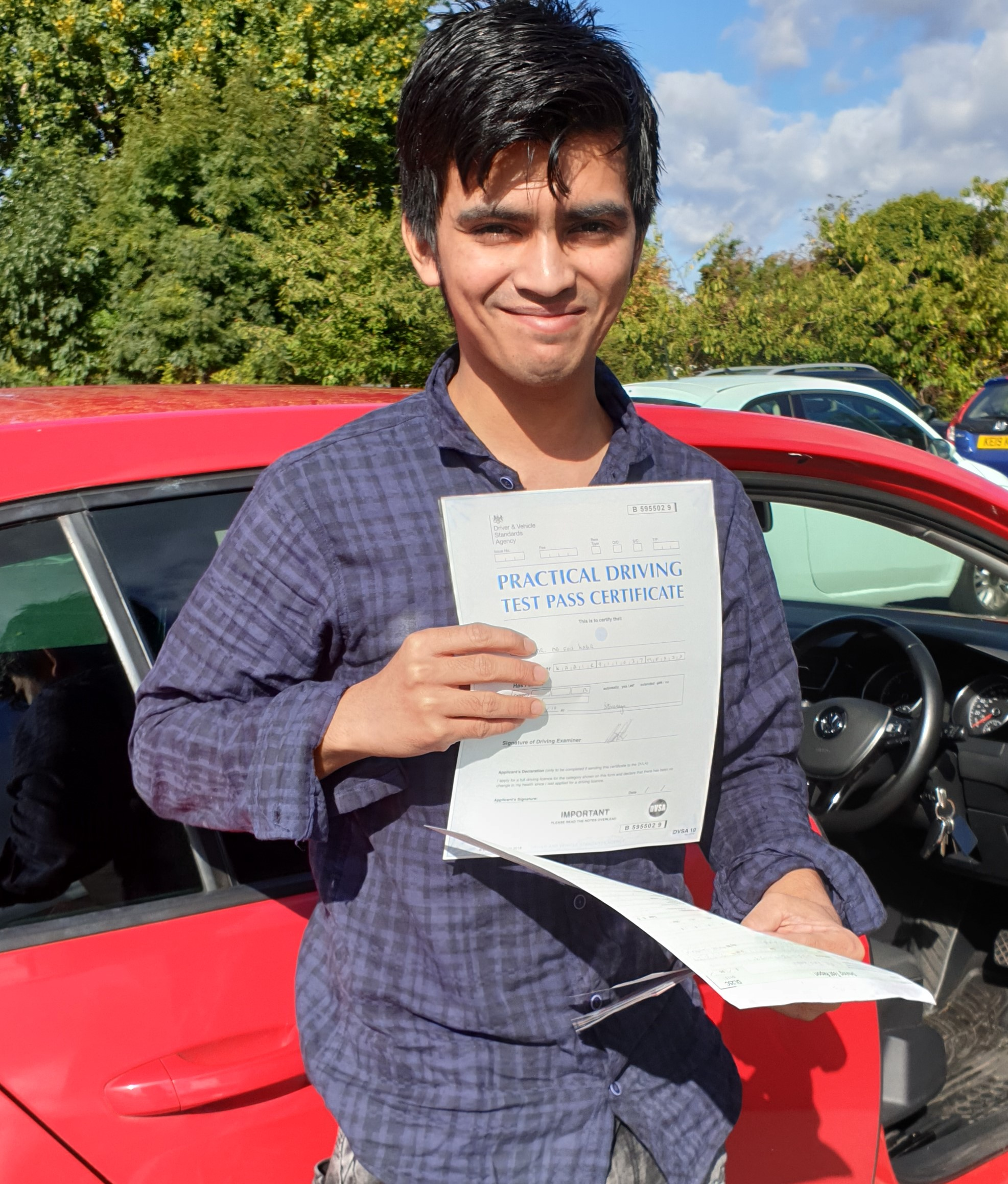 Fois passing driving test in borehamwood